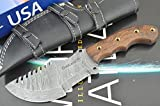 Christmas Gift Offer By ColdLand | Retail More Than 200$ Custom Handmade Damascus Steel Tracker Hunting Knife (handle scales are bit shrunk due to winter) Z29 For Sale