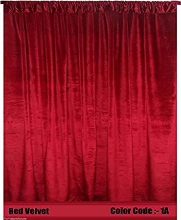 Red Curtains amazon red curtains : Amazon.com: Velvet Curtains Panel 4