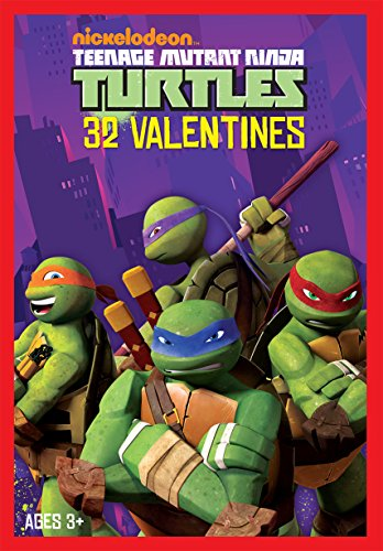 Paper Magic 32CT Showcase Teenage Mutant Ninja Turtles Kids Classroom Valentine Exchange Cards (Ninja Turtle Valentine compare prices)