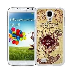 BINGO Funny Harry Potter Marauders Map Watercolor Samsung Galaxy S4 i9500 Case White Cover