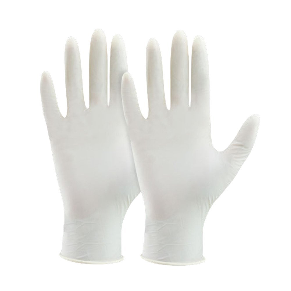 Latex Disposable Gloves, 100/box Latex Gloves Powder-free Protect Hands Gloves Disposable Latex Gloves,S/M/ L(S)