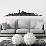 Wandkings Skyline wall sticker wall decal - 48.8 x 7.9 inch in black - Your city selectable - PHILADELPHIA