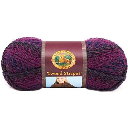Lion Brand Yarn 753-201AI Tweed Stripes Yarn, Orchid by Lion Brand (Tweed Stripes)