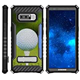 TurtleArmor | Samsung Galaxy Note 8 Case | N950 | Impact Armor Dual Layer Kickstand Case Card Holder Sports and Games Design - Golf Ball Tee