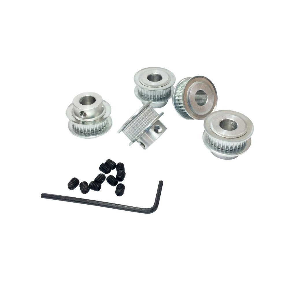 Bemonoc 3d Printer Accessories Gt2 32 Tooth 5mm 635mm 8mm 10mm Bore Timing Pulley 40 Teeth Belt 6mm For Width 5pcs Pack Industrial Scientific