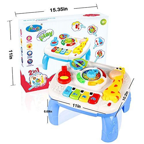 HOMOFY Baby Toys for 6-12 Month Baby Musical Learning Activity Table ,Built-in Animal Sounds, Music & Light Function,Early Development Baby Pull Toy for 1 2 3 Year Old Best Gift for Boys and Girls by HOMOFY (Image #5)