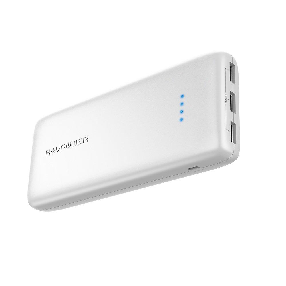 Power Bank mAh A Puertos Li Polímero Batería Externa RAVPower Panasonic Inteligente