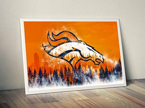 Denver Broncos Limited Poster Artwork - Professional Wall Art Merchandise (More (16x20) ()