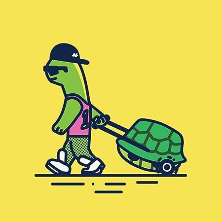 Creativo De pie tortuga sin marco Pintura Digital pintura ...