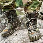 FREE SOLDIER Bottes de Chasse pour Hommes Bottes Militaires de Haut-Niveau Bottes Tactiques de Combat Chaussures à… 11