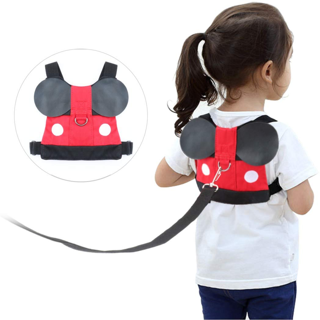 Idefair Kids Harness Kids Walking Leash Safety,Baby Anti Lost Safety Harness,Toddler Harness Safety Leashes for 1-5 Years Old Boys and Girls - Red by Idefair (Image #1)
