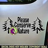 CONSERVE NATURE Vinyl Decal Sticker 2