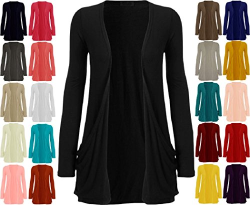 Crazy Girls Women's Boyfriend Pocket Cardigan Jersey Shrug