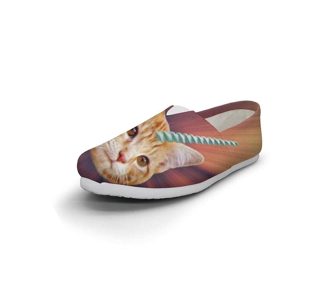 Unicorn cat Seasonal Classics Womens Comfort Flat Slip on Shoes Girls Loafer Shoes