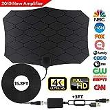 Tv Antenna,[2019 Latest] Amplified HD Digital TV Antenna Long 120 Miles Range Support