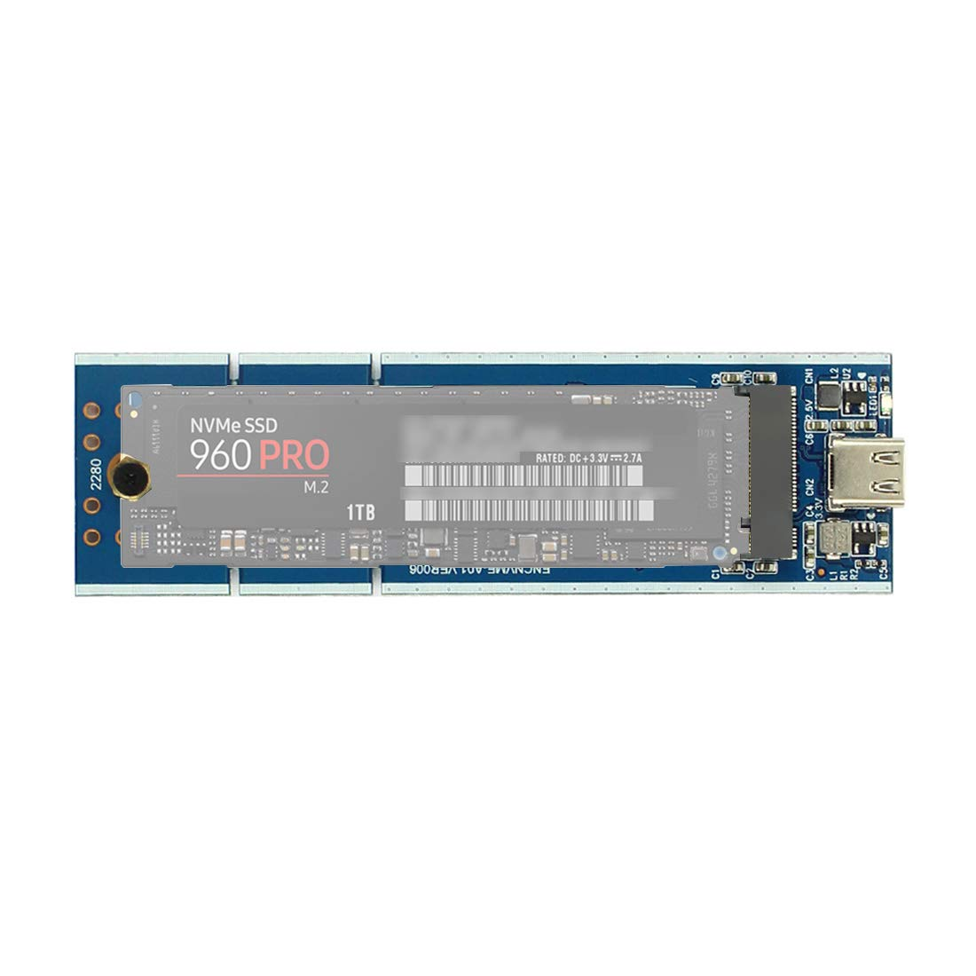 XT-XINTE NVME M.2 SSD Enclosure USB3.1 to PCI-E M Key NGFF Mobile ...