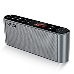 Antimi Bluetooth Speaker,FM Radio Player,MP3 Player Stereo Portable Wireless Speaker Drivers with HD Sound, Built-in Microphone, High Definition Audio and Enhanced Bass(Black)