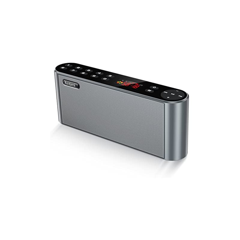Antimi Bluetooth Speaker,FM Radio Player