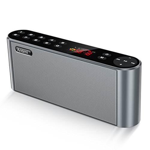 Antimi Bluetooth/FM Radio/MP3 Player Portable Wireless Speaker (Black)