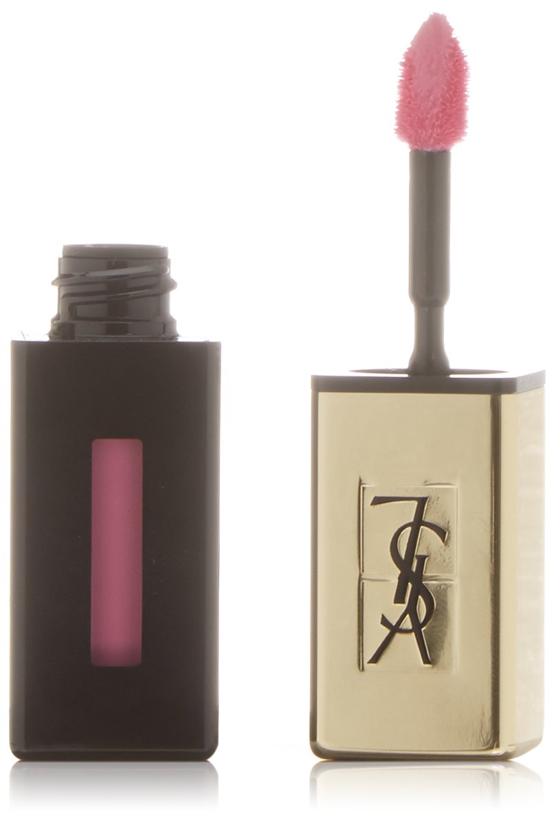 YSL Rouge Pur Couture Vernis A Levres Glossy Stain Number 17, Encre Rose 6 ml L' Oreal C-YS-580-51