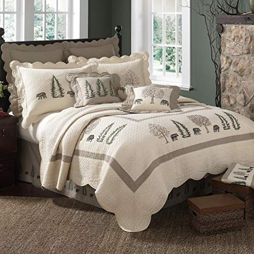 Donna Sharp Bear Creek Cotton Quilted Bedding Set, Queen