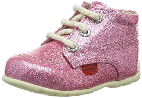 Kickers Girl's Hi Baby Pink Glitter First Boots 18 M EU/3 M US Toddler Pink Glitter
