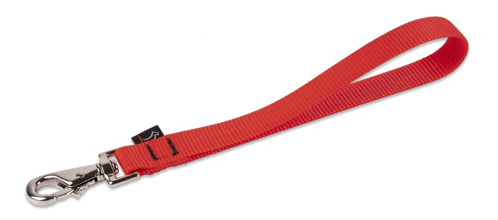 """LupinePet Basics 3/4"""" Red Leashes for Medium and Larger Dogs"""