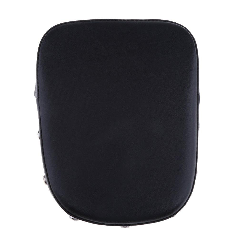 Homyl Universal Motorcycle Bar Backrest Cushion Seat Pad for Harley Yamaha Honda Synthetic Leather