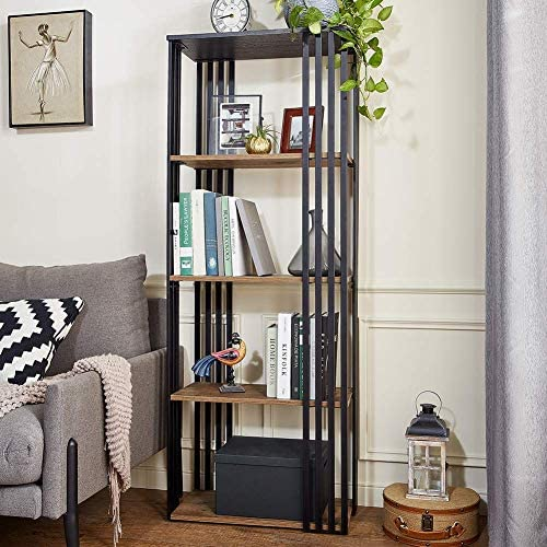 Linsy Home 5-Tier Open Back Bookcase