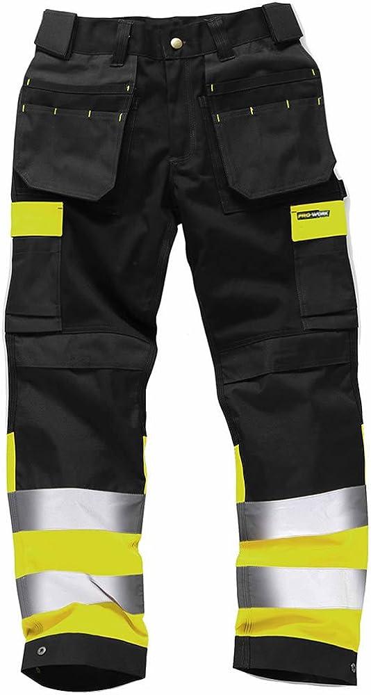 Army And Workwear Pantalones de Trabajo Alta Visibilidad Resistentes Pantalones Laborales con Bolsillos Rodillas Triple Costura Ropa de Trabajo Resistente ? Tamaños 71,12 a 116,84cm