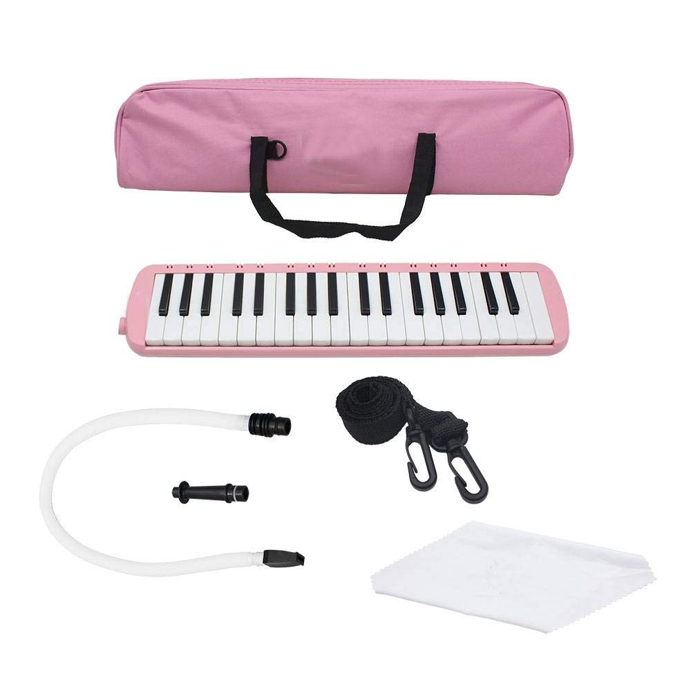 37 Piano Keys Melodica With Carrying bag,1 Short Mouthpieces, Easy to Control, Suitable for Teaching, Performance, Piano Enlightenment