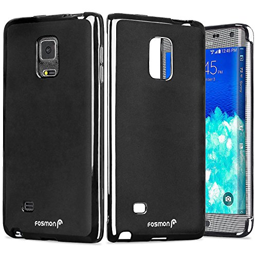 Galaxy Note Edge Case - Fosmon [DURA FROST] Smooth Durable & Flexible SLIM-Fit Cover for Samsung Galaxy Note Edge (Black) - Edge Note