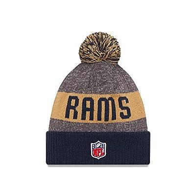 Los Angeles Rams New Era 2016 NFL Sideline On Field Sport Knit Hat - Navy Cuff
