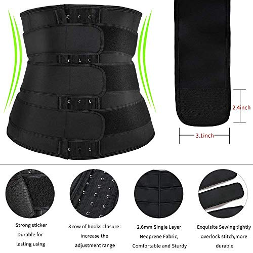 EKUPUZ Waist Trainer for Women,Waist Trainer for Women and Butt Lifter Waist Trainer Rose Red