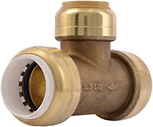 SharkBite PVC Fitting UIP372A 3/4 inch PVC X 3/4 inch PVC X 3/4 inch CTS, PVC Connector to Copper, PEX, CPVC, HDPE or PE-RT for Potable Water