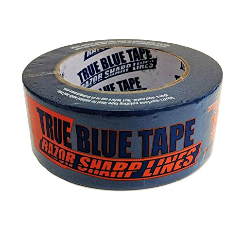 True Blue Premium Blue Professional Painter's Masking Tape – Indoor and Outdoor Use – Commercial Grade - Available in 2 Widths – Works on a Variety of Surfaces (2 Inch, 4-Pack) by True Blue (Image #5)