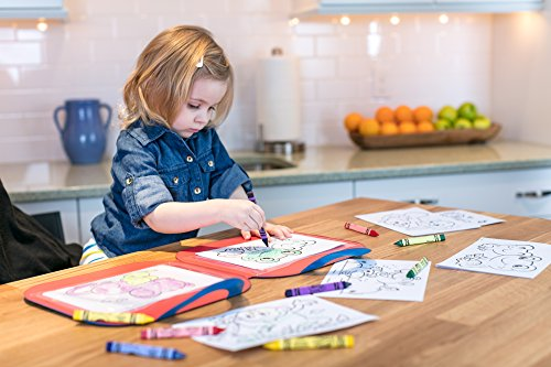 51BehNQwViL - Crayola Toddler Coloring Set, Reusable Activity Mat with Washable Crayons, Gift