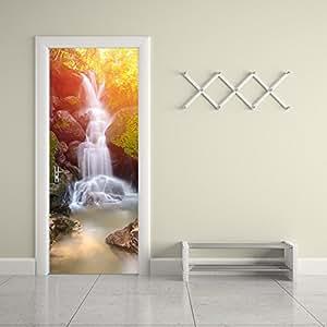casefan door wall mural wallpaper stickers waterfall vinyl removable 3d decals 30. Black Bedroom Furniture Sets. Home Design Ideas