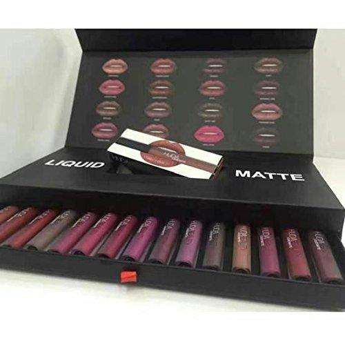 WJiXin 16 Color Kit 16 Color Matte Glue Lipstick Gift Box Lipstick set Lip Glosses makeup beauty