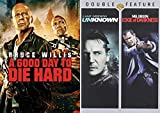 Good Cops Going Rogue: A Good Day To Die Hard & Unknown/ Edge Of Darkness (DVD Bundle/ 3 Feature Films) Mel Gibson/ Liam Neeson/ Bruce Willis Come On Now!