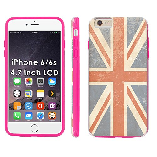 (iPhone 6/6s 4.7-inch Phone Cover, Rustic Union Jack- Pink Shell Shock Phone Case for [iPhone 6/6s 4.7-inch])