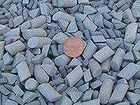 "Ceramic Tumbling Media Mixed 3 Lbs. 3/16"" X 3/8"" & 3/8"" X 5/8"" Cylinder, 3/8"" X 1/4"" Triangle Lapidary Rock Tumbler Tumble G-General – Grey – Abrasive"