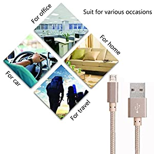 Aobiny 2.1A Braided Aluminum Micro USB Data&Sync faster Charger Cable (1M)