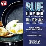 Blue Diamond Cookware Triple Steel Ceramic Nonstick Stainless Steel Cookware Pots and Pans Set, 6 Piece