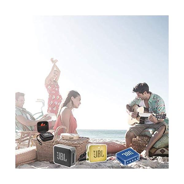 Pushingbest Coque pour JBL Go 2, 2 avec Eva et TPU pour Votre Haut-Parleur JBL Go 2 Bluetooth 7