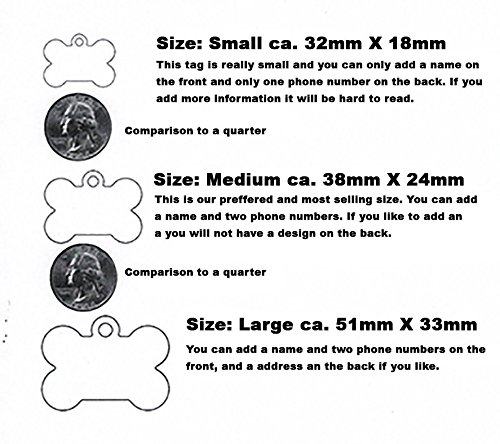 Image of Cute Bone Shaped Dog Tag, Customized Information Badge Please Don't Forget To Give US The Name For The Tag Created by Little Paw Store LLC