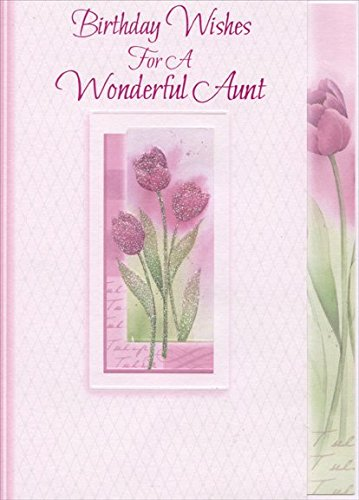 Amazon Sparkling Pink Flowers In White Embossed Frame Aunt