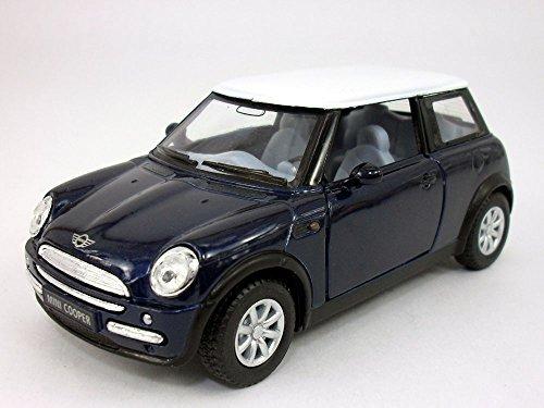 Mini Cooper 1/28 Scale Diecast Model by Kinsmart - BLUE ()
