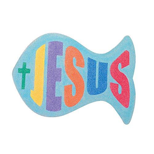(Fun Express - Jesus Fish Sand Art Craft Kit - Craft Supplies - Sand Art - Sheets - 12)