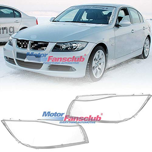 Headlight Lens Shell Lamp Cover For BMW E90 Sedan E91 Touring 2004-2007 3 Series